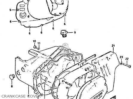 Suzuki Gp125 1981 (ux) parts list partsmanual partsfiche
