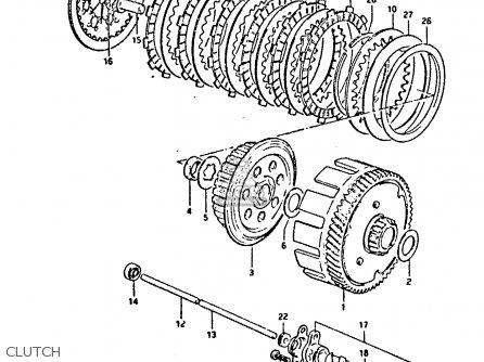 Suzuki Gp125 1981 (x) (e02 E04 E17 E18 E21 E22 E41) parts