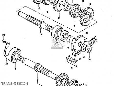 Suzuki Gp125 1981 (x) parts list partsmanual partsfiche