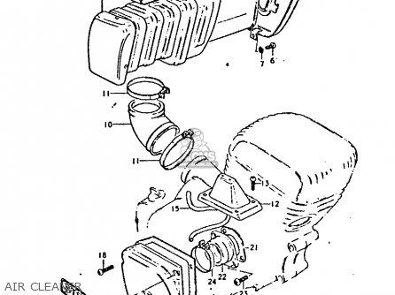 Suzuki GP125U 1978 (C) (E01 E02 E04 E06 E13 E14 E17 E18