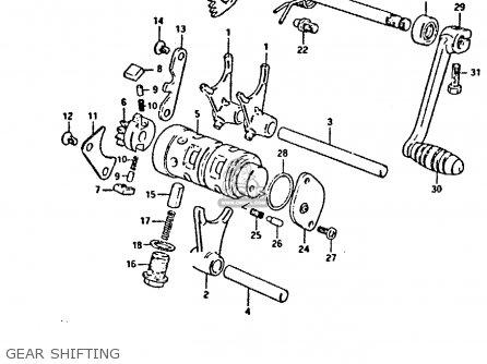 Suzuki Gp125u 1981 (x) Sweden Greece (e17 E41) parts list