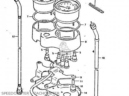 Suzuki GP125U 1981 (X) SWEDEN GREECE (E17 E41) parts lists