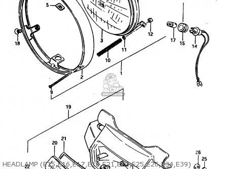 Suzuki Gr650 1984 (e) parts list partsmanual partsfiche