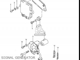 Suzuki Gr650 Tempter 1983 (d) Usa (e03) parts list
