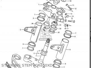 Suzuki GR650 TEMPTER 1983 (D) USA (E03) parts lists and