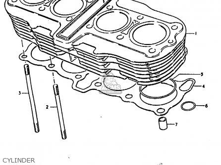 Suzuki Gs1000 1978 (c) parts list partsmanual partsfiche