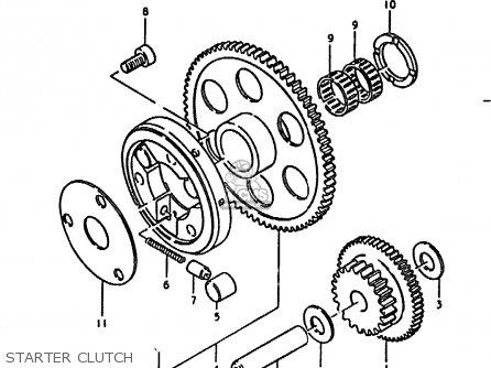 Suzuki Gs1000 1979 (en) parts list partsmanual partsfiche