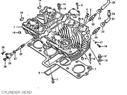 Suzuki Gs1000 1979 (n) parts list partsmanual partsfiche