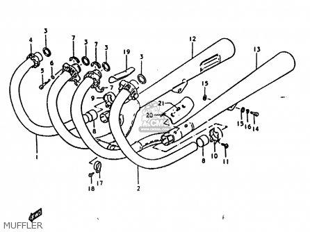 Suzuki Gs1000 1979 (n) General Export (e01) parts list