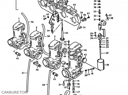 Suzuki Gs1000 1979 (s) parts list partsmanual partsfiche