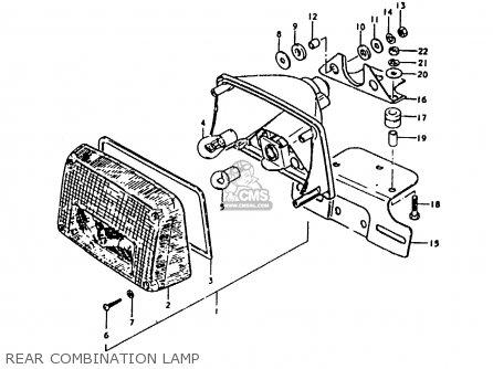 Suzuki Gs1000 1979 (s) General Export (e01) parts list