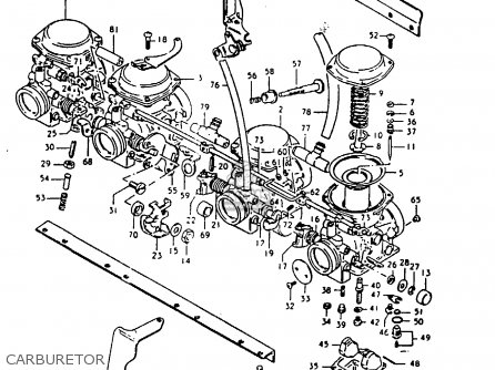 Suzuki Gs1000 1980 (gt) parts list partsmanual partsfiche