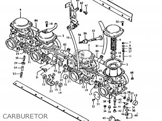 Suzuki Gs1000 1980 (t) parts list partsmanual partsfiche