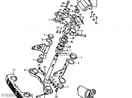 Suzuki Gs1000 1980 (t) (e01 E02 E22 E24) parts list