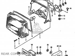 Suzuki GS1000 1982 (Z) USA (E03) parts lists and schematics
