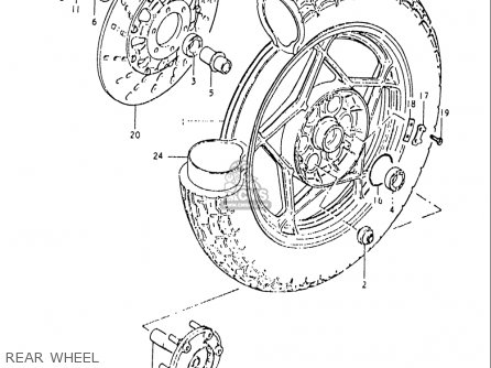 Suzuki Gs1000 G 1980-1981 (usa) parts list partsmanual