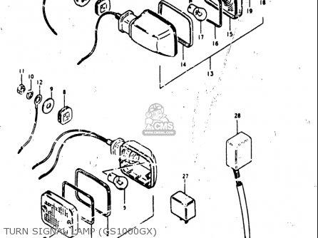 Suzuki Gs1000 G 1980-1981 (usa) parts list partsmanual