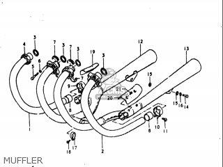 Suzuki Gs1000 L 1979 (usa) parts list partsmanual partsfiche