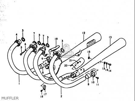 Suzuki Gs1000 S 1979 (usa) parts list partsmanual partsfiche