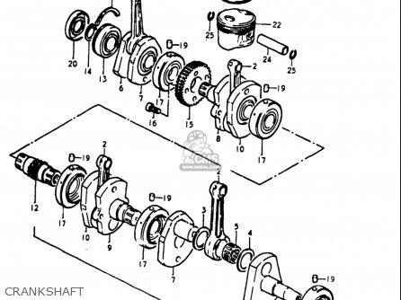 Suzuki Gs1000 S 1980 (usa) parts list partsmanual partsfiche