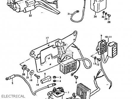 Suzuki Gs1000e 1978 (c) parts list partsmanual partsfiche