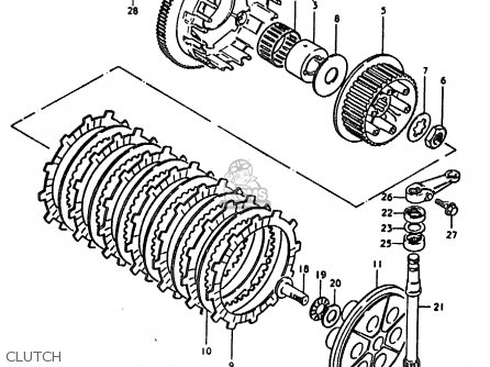 Suzuki Gs1000e 1979 (n) General Export (e01) parts list
