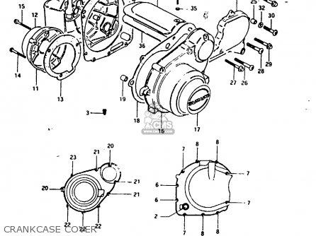 Suzuki Gs1000g 1980 (t) General Export (e01) parts list