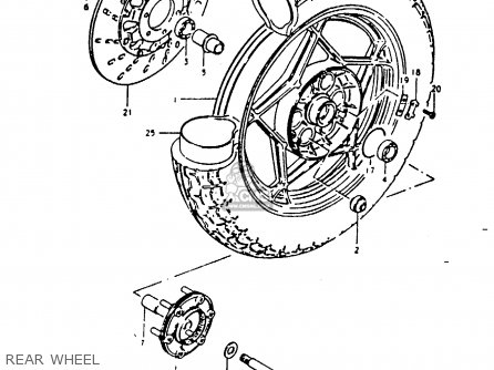 Suzuki Gs1000g 1980 (t) General Export (e01) parts list