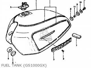 Suzuki Gs1000g 1980 (t) Usa (e03) parts list partsmanual