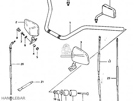 Suzuki Gs1100 1982 (gkz) parts list partsmanual partsfiche