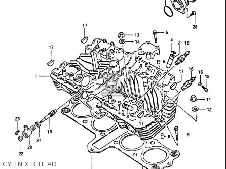 Suzuki GS1100 1984 (E) USA (E03) parts lists and schematics
