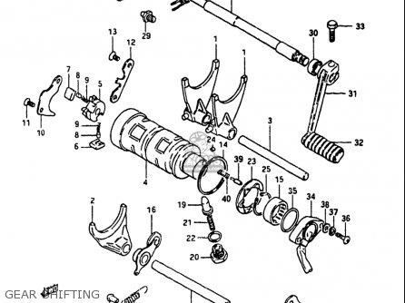 Suzuki Gs1100 1984 (e) Usa (e03) parts list partsmanual
