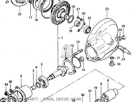 Suzuki Gs1100 1984 (ge) parts list partsmanual partsfiche