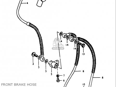 Suzuki Gs1100 E 1980-1981 (usa) parts list partsmanual