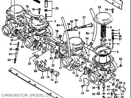 Suzuki Gs1100 E ,es 1982-1983 (usa) parts list partsmanual