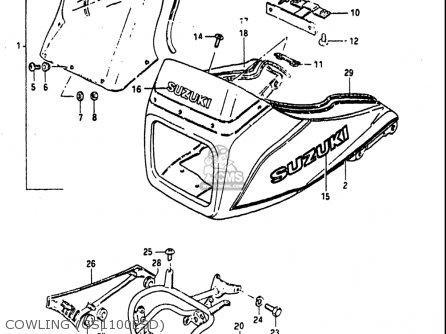 Suzuki Gs1100 E ,es 1982-1983 (usa) parts list partsmanual
