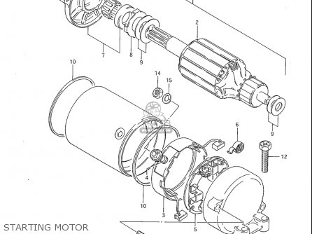 Suzuki Gs1100 G 1982-1983 (usa) parts list partsmanual