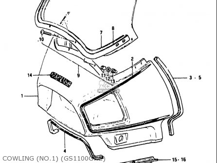 Suzuki Gs1100 Gk 1982-1983 (usa) parts list partsmanual