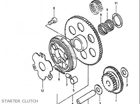 Suzuki Gs1100 Gk 1982-1983 (usa) parts list partsmanual