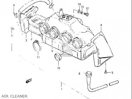 Suzuki Gs1100 Gl 1982-1983 (usa) parts list partsmanual