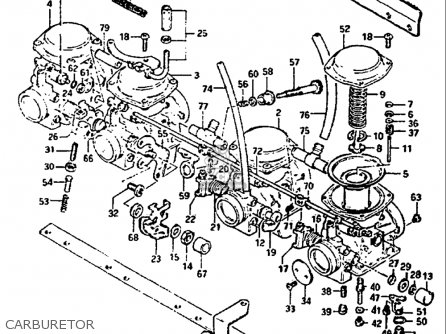 Suzuki Gs1100 Gl 1982-1983 (usa) parts list partsmanual