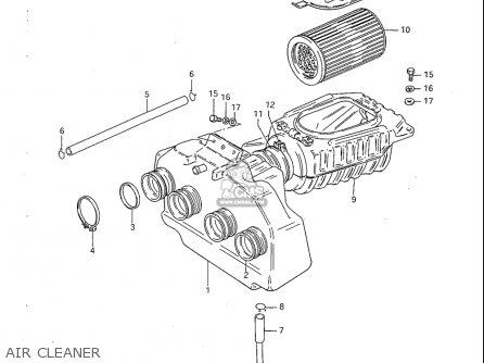 Suzuki Gs1100 S 1983 (usa) parts list partsmanual partsfiche