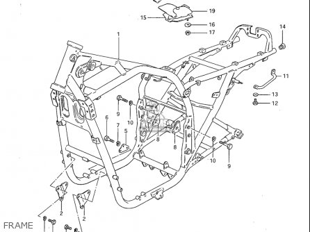 Suzuki Gs1100 S 1983 (usa) parts list partsmanual partsfiche
