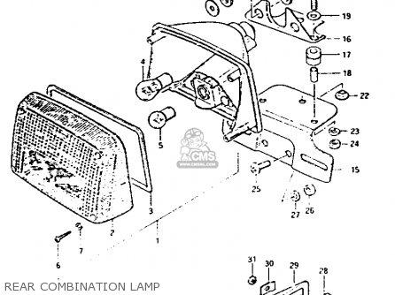 Suzuki Gs1100g 1982 (z) General Export (e01) parts list