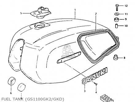 Suzuki Gs1100gk 1982 (z) General Export (e01) parts list