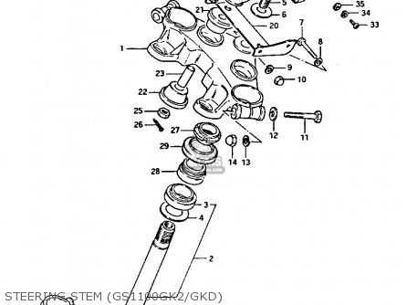Suzuki Gs1100gk 1982 (z) General Export (e01) parts list