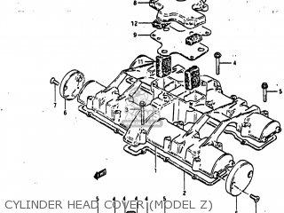 Suzuki GS1100GL 1982 (Z) USA (E03) parts lists and schematics