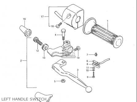 Suzuki Gs1100s 1983 (d) Usa (e03) parts list partsmanual