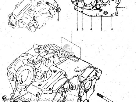Suzuki Gs125 1982 (esz) parts list partsmanual partsfiche