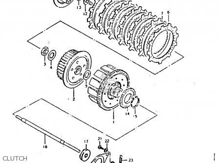Suzuki Gs250t 1980 (t) United Kingdom (e02) parts list